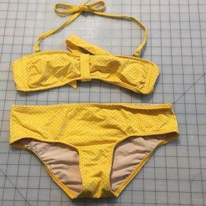 Itsy bitsy teeny weeny yellow polka dot bikini 👙